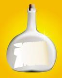 Bottiglia con una lettera Fotografia Stock