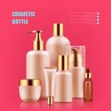 Bottiglia cosmetica realistica Fotografie Stock Libere da Diritti