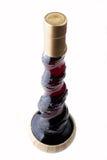 Bottiglia Curvy del vino rosso Fotografie Stock