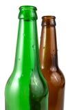 Bottiglia da birra due isolata Immagine Stock Libera da Diritti
