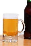 Bottiglia da birra e tazza Fotografia Stock Libera da Diritti