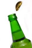 Bottiglia da birra verde Fotografia Stock
