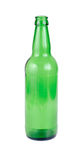 Bottiglia da birra verde vuota Fotografie Stock Libere da Diritti