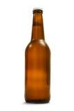 Bottiglia del Brown con birra Immagini Stock