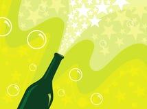 Bottiglia del champagne Immagine Stock