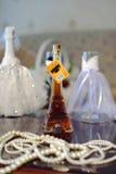 Bottiglia del cognac Fotografia Stock