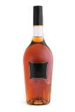 Bottiglia del cognac (brandy) Fotografia Stock Libera da Diritti
