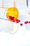 Bottiglia del farmaco da vendere su ricetta medica di RX Fotografie Stock