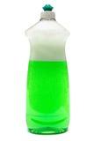Bottiglia del liquido di piatto Fotografia Stock