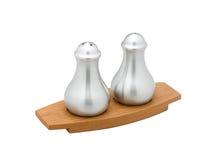Bottiglia del pepe e del sale Fotografia Stock Libera da Diritti