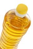 Bottiglia del primo piano dell'olio di girasole isolato Fotografie Stock
