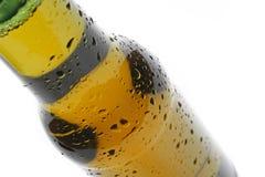 Bottiglia del primo piano della birra Fotografia Stock