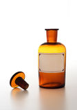 Bottiglia del prodotto chimico dell'annata Fotografia Stock Libera da Diritti