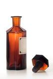 Bottiglia del prodotto chimico dell'annata Immagini Stock