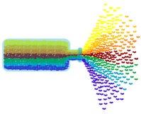 Bottiglia del Rainbow Fotografia Stock