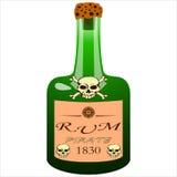 Bottiglia del rum del pirata Immagine Stock