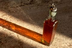 Bottiglia del sapone del piatto immagini stock libere da diritti