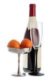 Bottiglia del vino rosso Immagini Stock