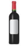 Bottiglia del vino rosso Fotografia Stock