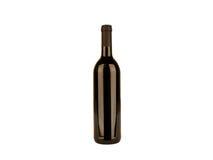 Bottiglia del vino rosso su backround bianco Immagini Stock Libere da Diritti