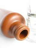 Bottiglia dell'argilla Fotografia Stock
