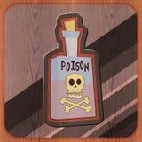 Bottiglia dell'illustrazione del veleno Fotografia Stock Libera da Diritti