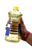 Bottiglia dell'olio da cucina fotografia stock libera da diritti