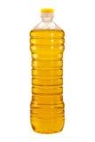 Bottiglia dell'olio di girasole isolata Immagine Stock