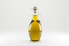 Bottiglia dell'olio di oliva islated Immagine Stock