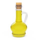 Bottiglia dell'olio di oliva rappresentazione 3d Fotografia Stock