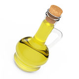 Bottiglia dell'olio di oliva rappresentazione 3d illustrazione di stock