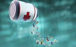 Bottiglia della capsula Immagine Stock