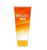 Bottiglia della crema di cura di Sun, modello della metropolitana per gli annunci o rivista Backgro Fotografie Stock Libere da Diritti