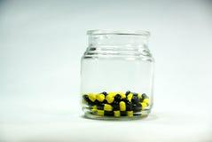 Bottiglia delle capsule Immagine Stock Libera da Diritti
