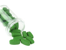 Bottiglia delle vitamine Fotografia Stock