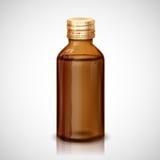 Bottiglia dello sciroppo della medicina Fotografia Stock
