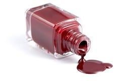 Bottiglia dello smalto per unghie fotografie stock libere da diritti