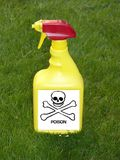 Bottiglia dello spruzzo del diserbante Fotografia Stock Libera da Diritti
