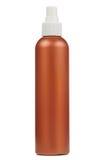 Bottiglia dello spruzzo isolata su priorità bassa bianca Fotografia Stock