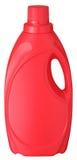 Bottiglia detersiva rossa Fotografia Stock