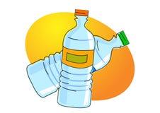 Bottiglia di acqua illustrazione di stock