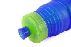 Bottiglia di acqua blu Immagini Stock Libere da Diritti
