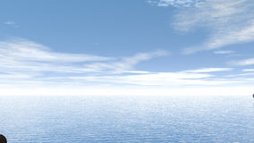Bottiglia di aiuto e barca andare - 3D rendono illustrazione di stock