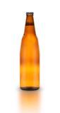 Bottiglia di birra isolata Immagini Stock Libere da Diritti