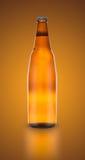Bottiglia di birra isolata Fotografie Stock