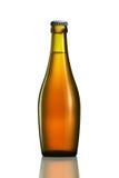 Bottiglia di birra o di sidro isolato su fondo bianco Immagini Stock Libere da Diritti