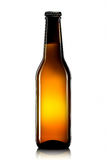 Bottiglia di birra o di sidro isolato su fondo bianco Fotografie Stock Libere da Diritti