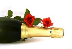 Bottiglia di Champagne Fotografia Stock