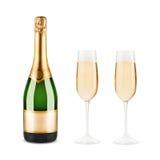 Bottiglia di champagne fotografie stock