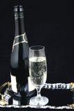 Bottiglia di Champagne e vetro VI Fotografie Stock Libere da Diritti